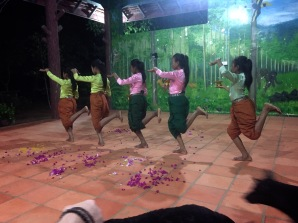 Kids from the local school performing some traditional dances for us