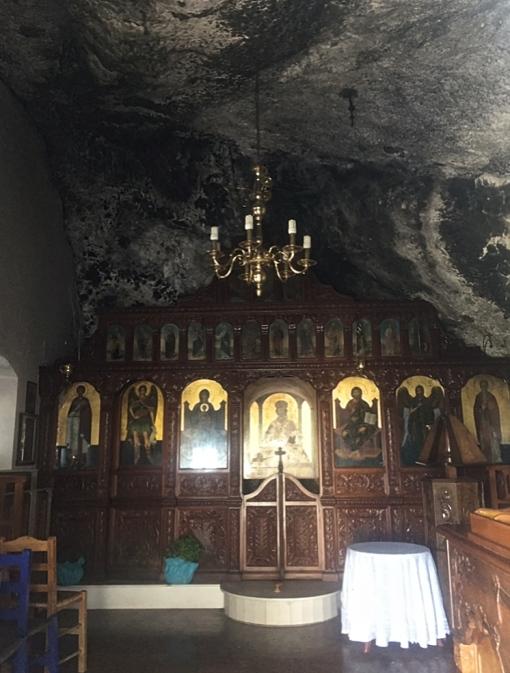 The main church built inside the cave