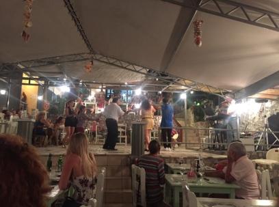 Circle of people dancing