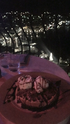 Best Waffles <3 and view at night