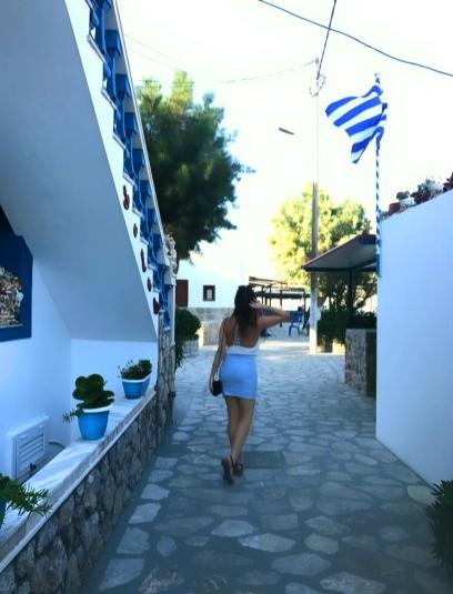 Exploring the main port of Telendos