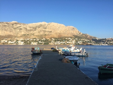 View of Kalymnos from the Telendos port