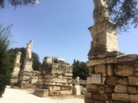 Various Statues in the Ancient Agora