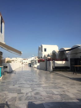 The main strip along the caldera in Oia