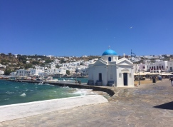 Mykonos Town harbour.