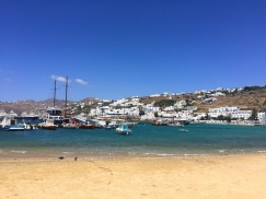 The beach in Mykonos Town.