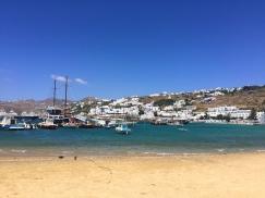 The beach in Mykonos Town.