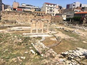 Ruins scattered throughout Monastiraki