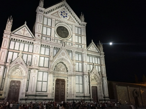 Church of Santa Croce and full moon