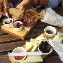 Meat and cheese platter from the butcher in the main square
