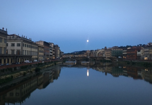 Full moon over Ponte Vecchio