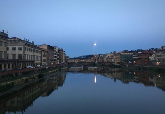 Full moon over Ponte Vecchio