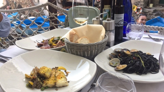 Amazing food in Riomaggiore