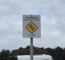 Venomous snakes sign