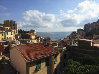 view from top of Riomaggiore