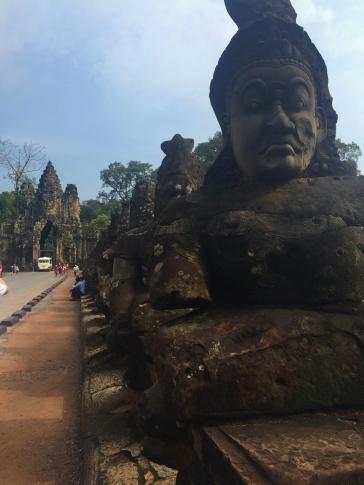 Bridge to the temples